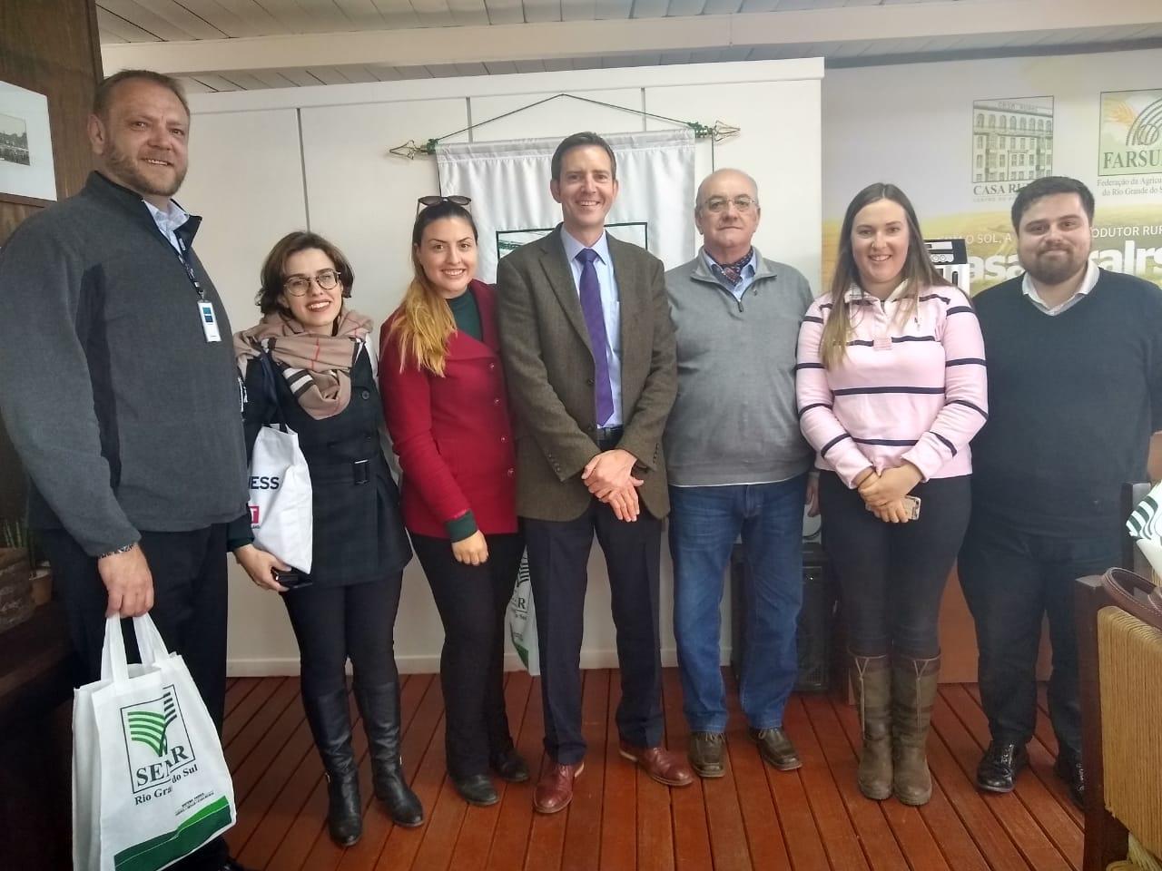 L-R Craig Stone (Traducza), Fernanda Silva, Juliana Alves (both DIT), Richard Saunders, Jose Avila (Farsul), Ruth Perry, Renan dos Santos (Farsul)