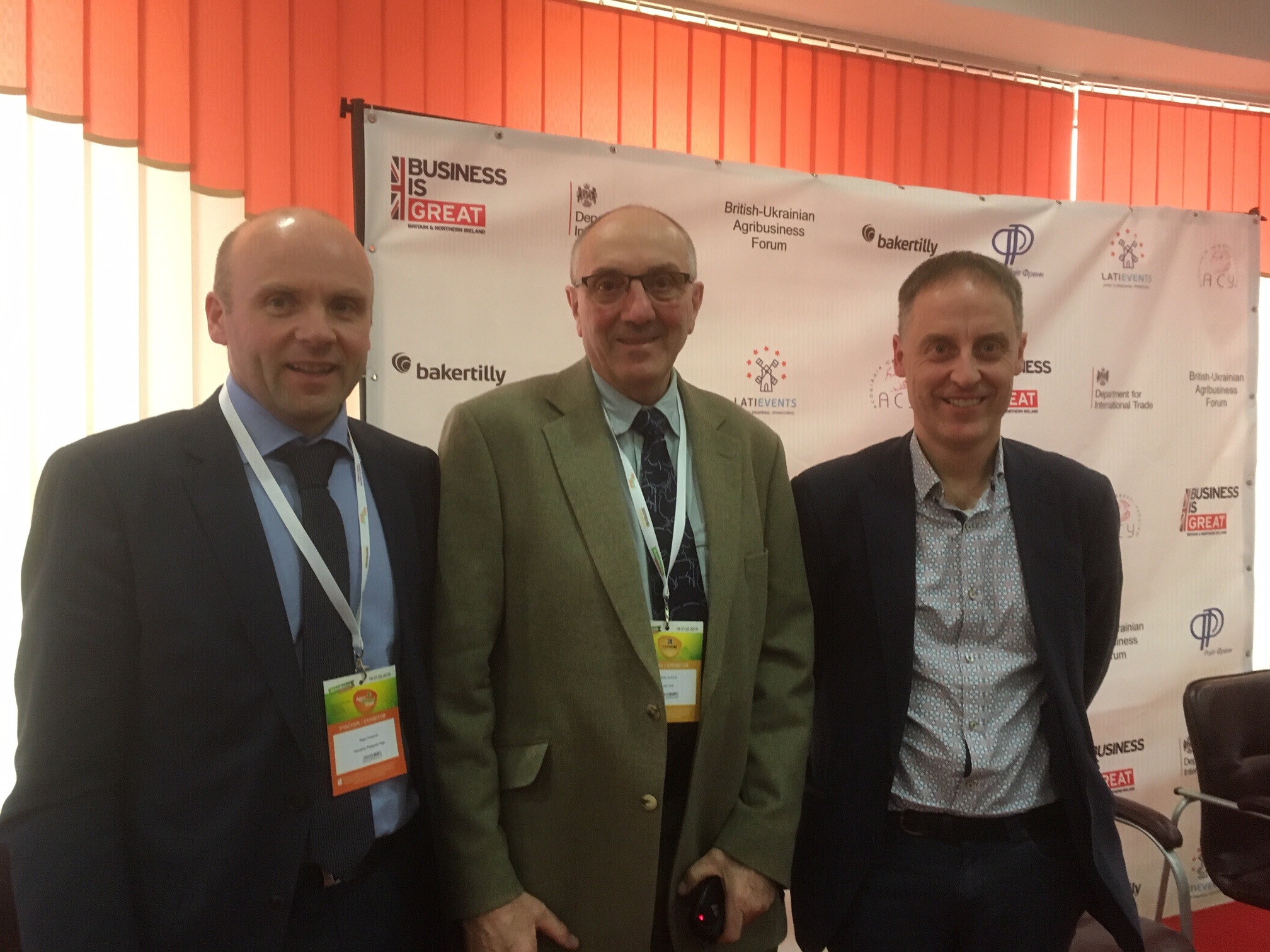Speakers at the Pig Forum included (L-R) Nigel Overend, Chris Jackson & Geert Rombouts