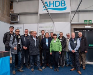 Delegates pictured on the AHDB stand at Beef Expo