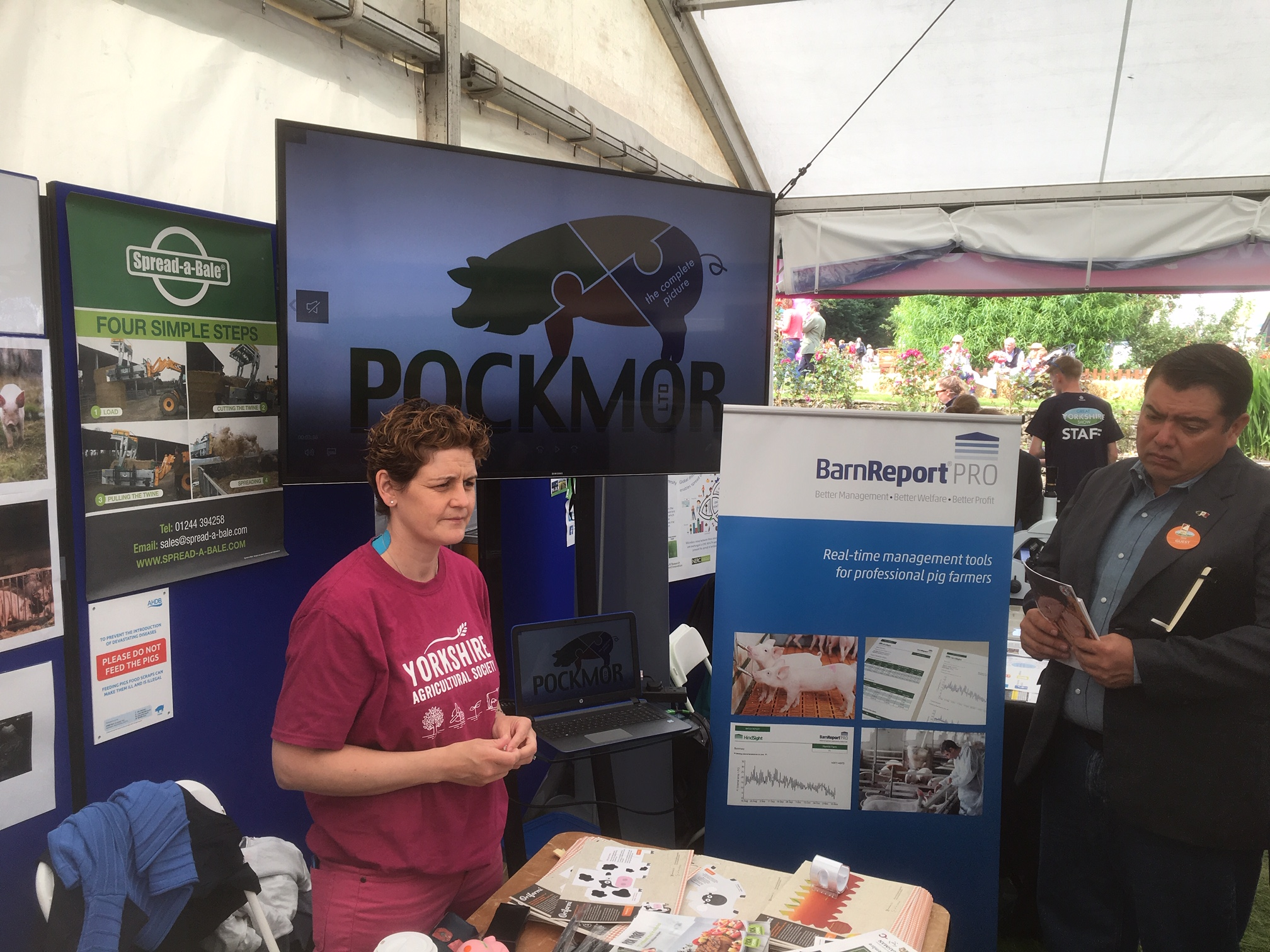 With Vicky Moore, Pockmor Ltd, at the Great Yorkshire Show