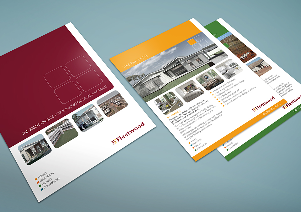 Fleetwood: A4 folder and flyers (for Creative Fruition studio)