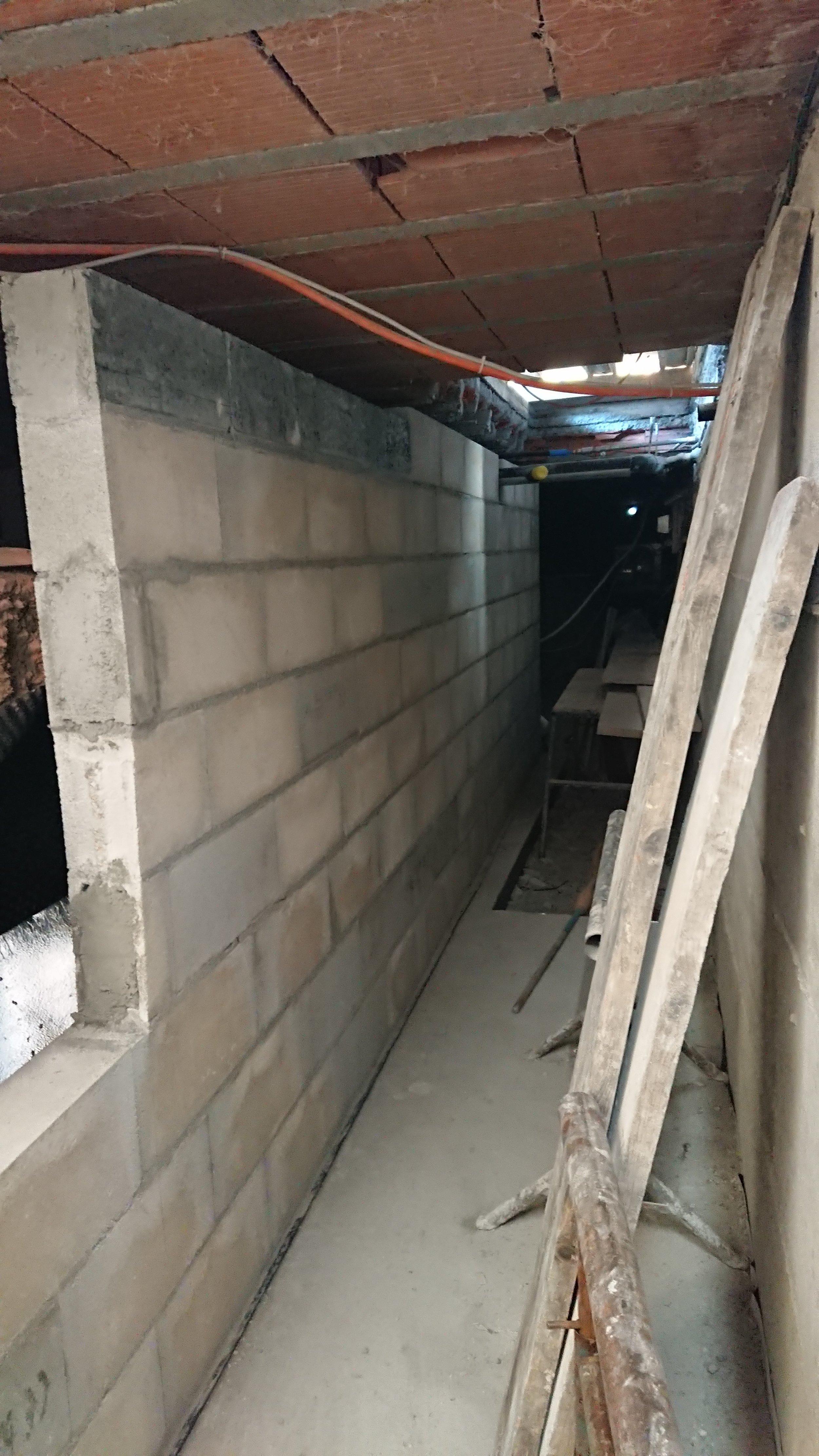 le sous-sol se reconstruit déjà