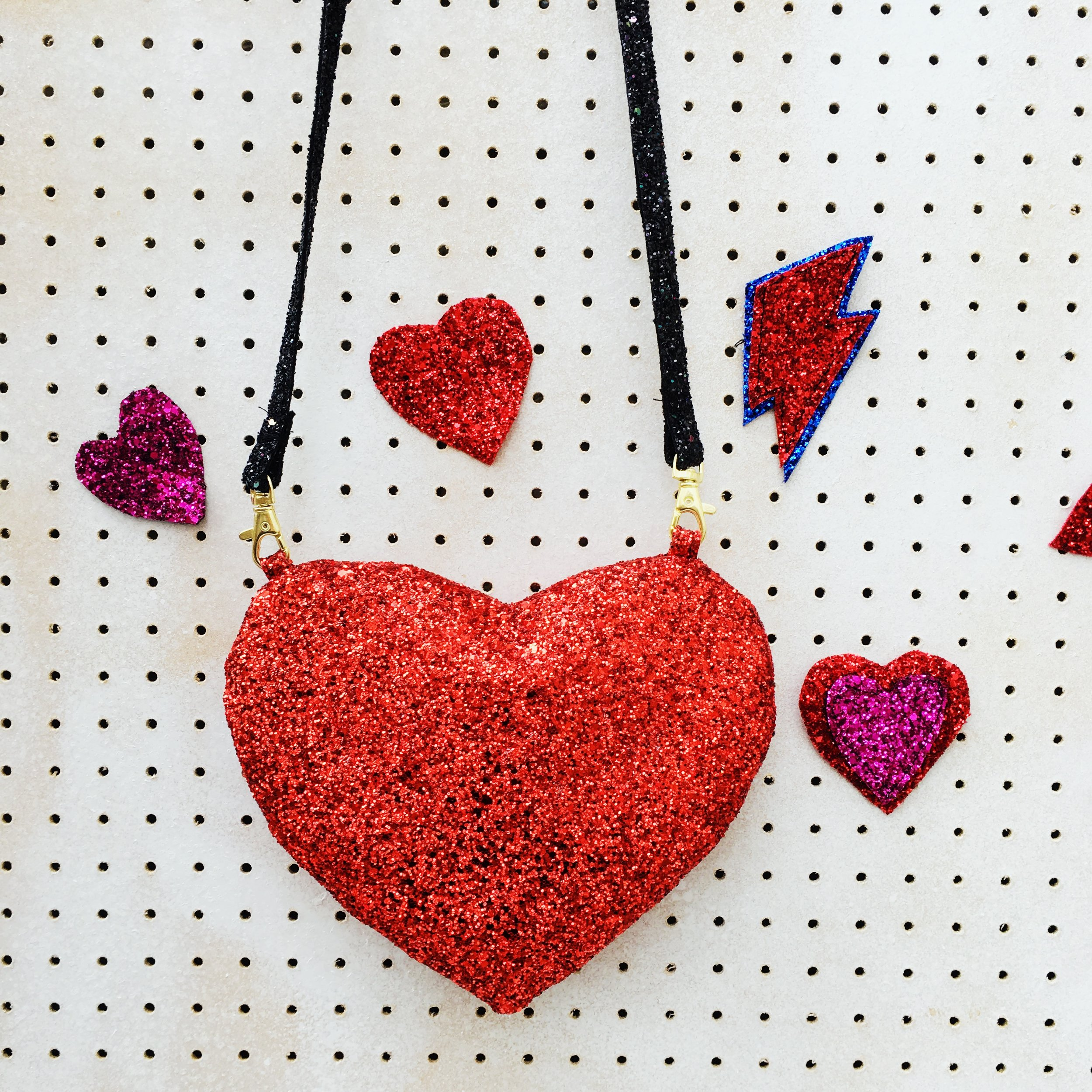 Our new love heart bags are online now yippee.