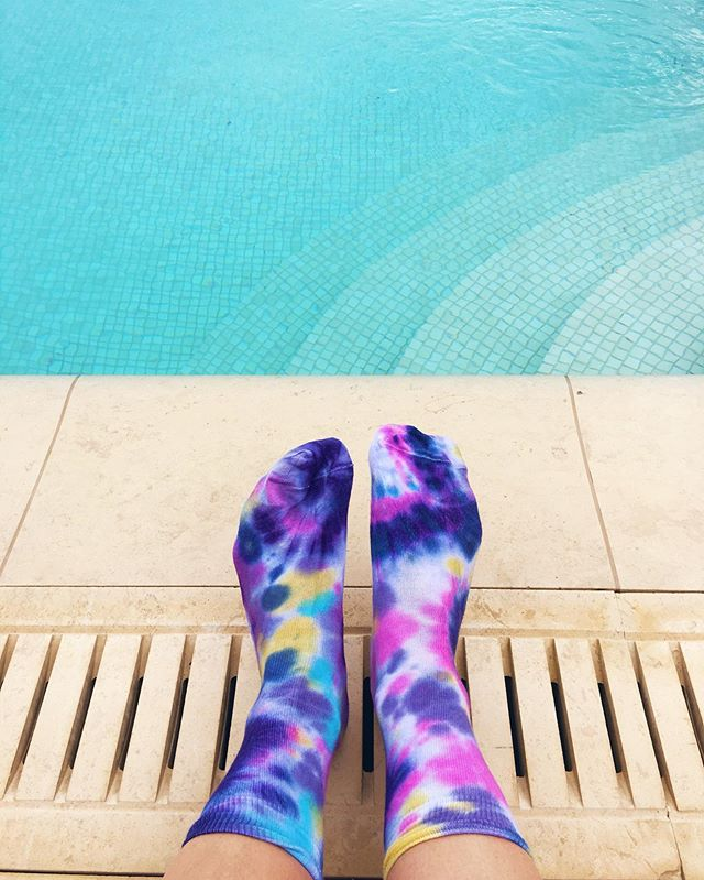 Are your feet ready to go intergalactic?🌟💫Our new galaxy rainbow tie dye socks are available in the shop.💫