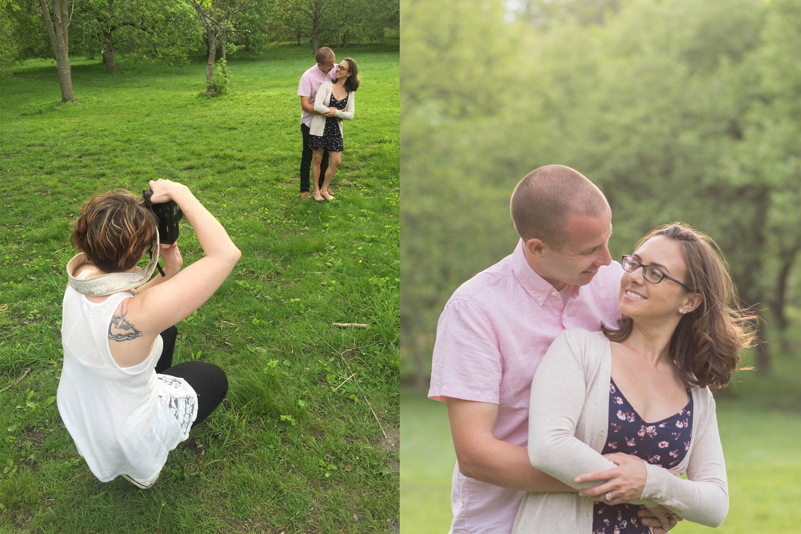 I love how you can see the before and after of this shot!