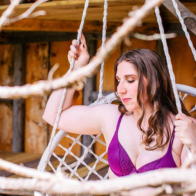 So excited to share my latest boudoir sessions with you! How beautiful is this babe?  This private location has the most amazing swing! I of course had to use for photos. 💜 #beautyandconfidencetribe  Hair and Makeup: @jesslynnabreu