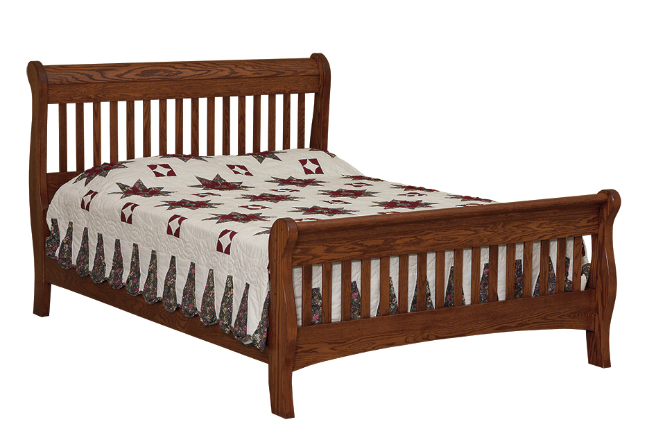 Picket Sleigh Bed