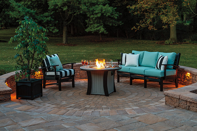 Club Chair, Sofa, & Fire Pit