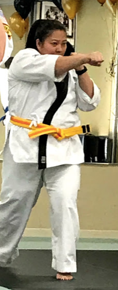 Age 41: advanced yellow belt - just a month before I was sidelined.