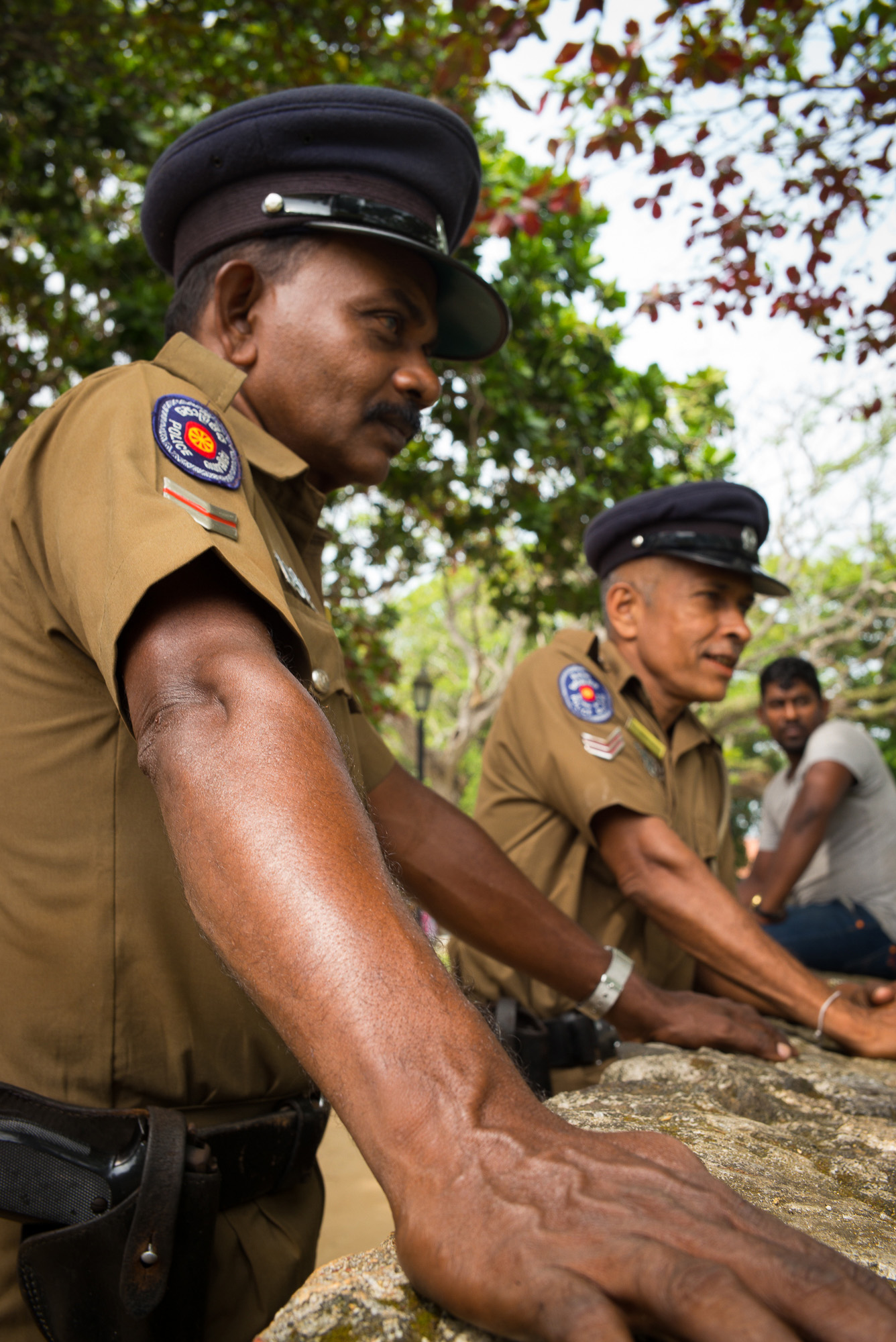 Police officers, Galle, Southern Province
