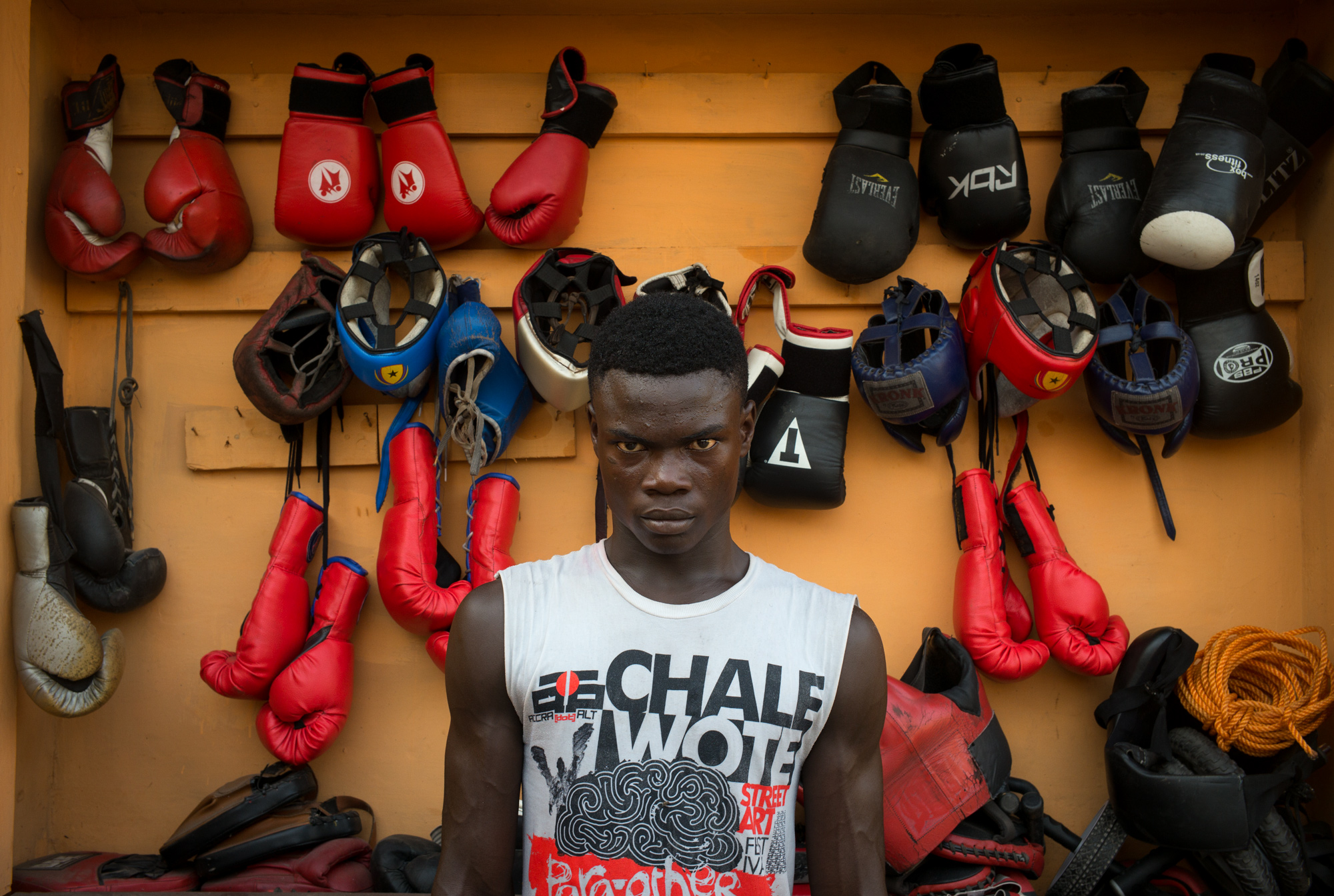 Henry Malu, 19, Black Bombers National Team. 4 years of boxing: 8 Fights / 6 Victories