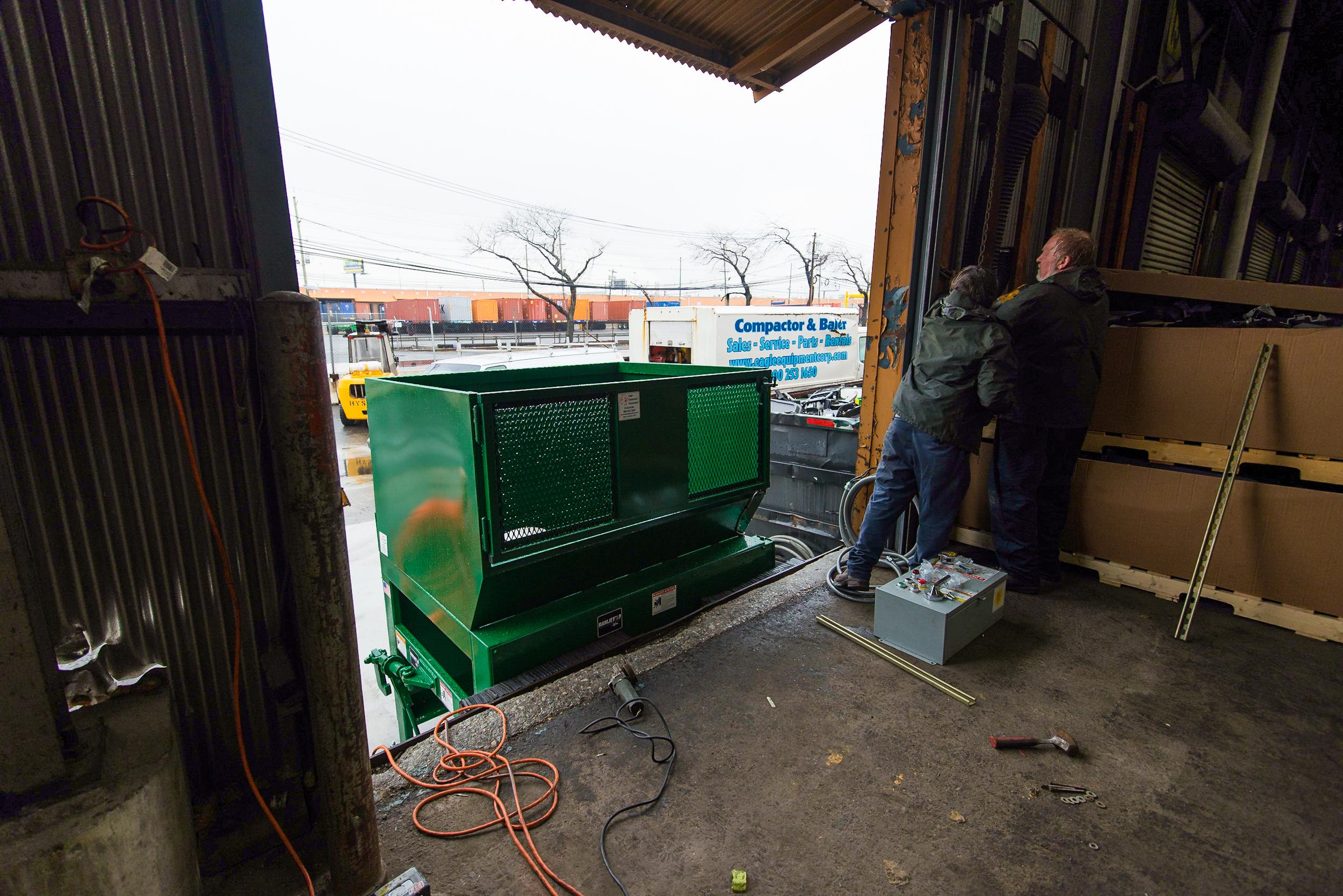 A Marathon Auger compactor installed in Port Newark, NJ