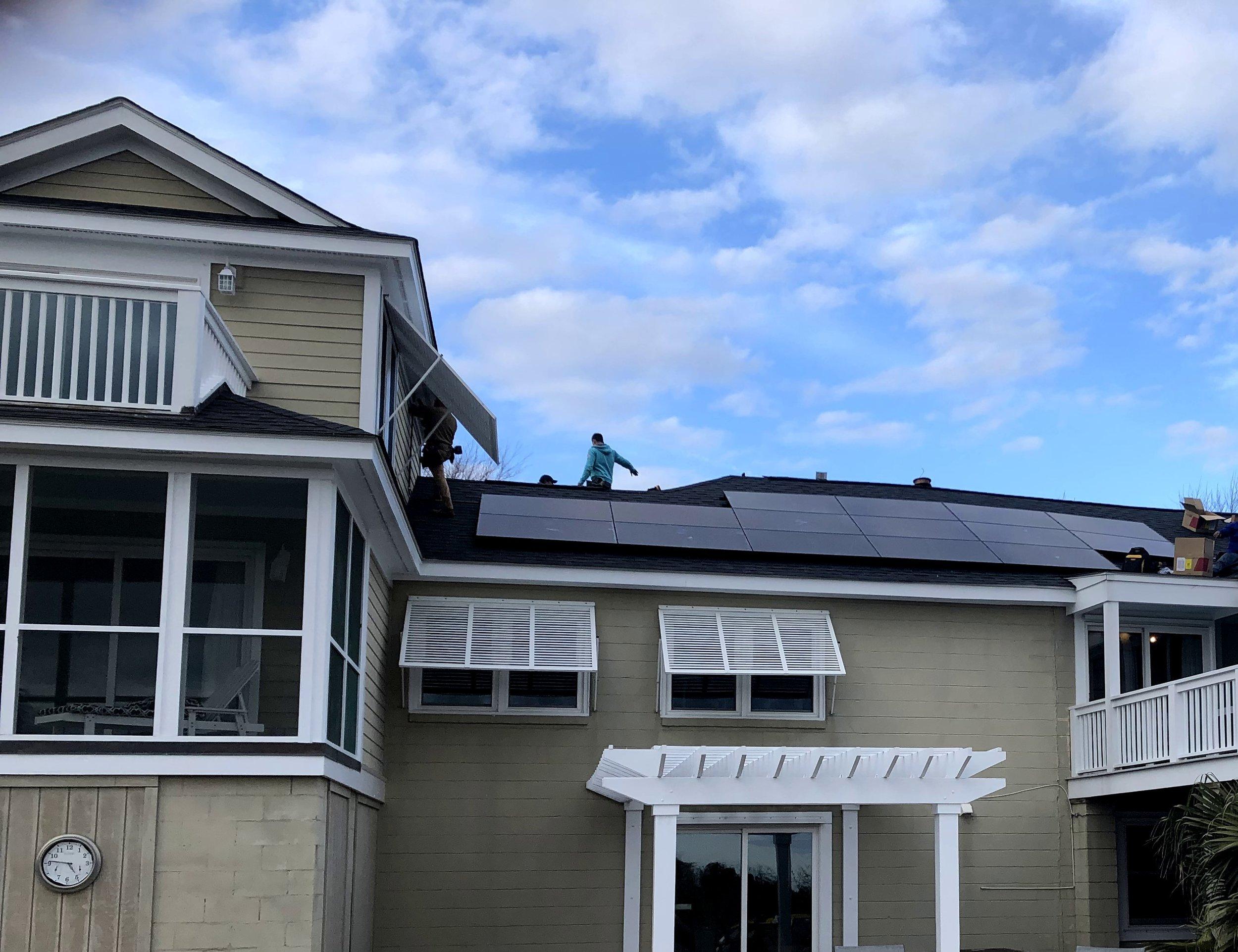 Sullivans Island, SC Solar Installation