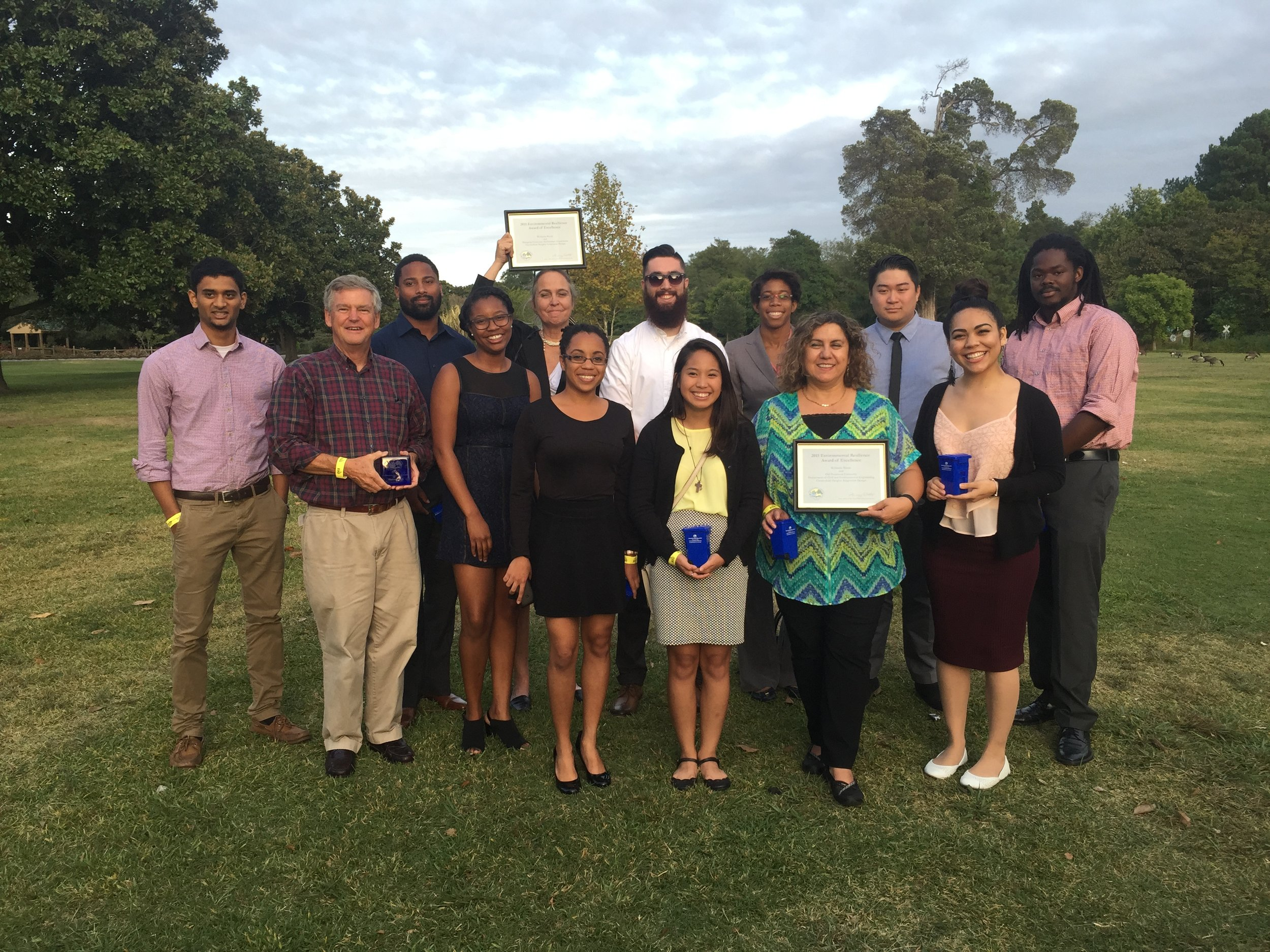 Some of the Students and Professors Get Award from Norfolk