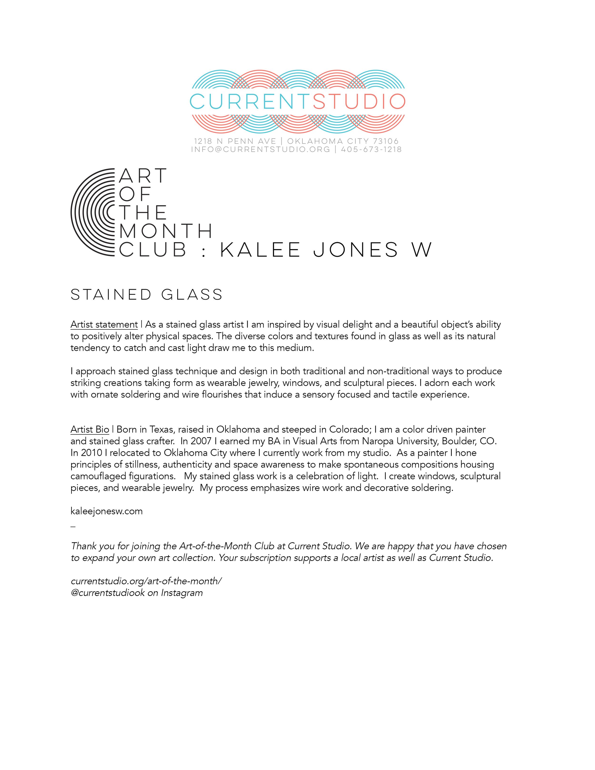 art of the month artist sheet - kalee jones w.jpg