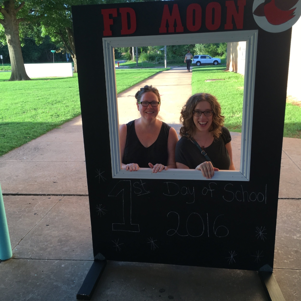 FIRST DAY OF SCHOOL, MOON ELEMENTARY