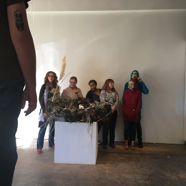 EVOLVE ARTISTS POSING FOR GAZETTE PHOTO