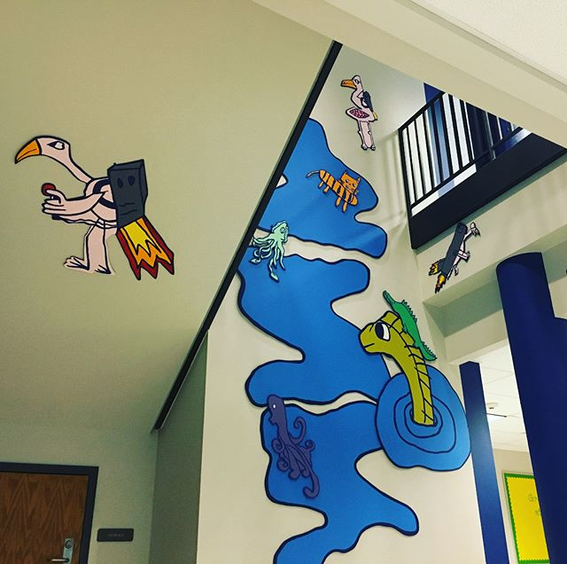 Today we had the pleasure of installing these narrative vignettes at Eugene Field Elementary, where our teaching artist @eshawart has been working with 2nd-5th grade students to collaboratively develop a story and characters. Now those characters populate the school hallways! Thanks to @alliedartsokc , Oklahoma Arts Council, and our community for making this program possible. #artinschools #artforeveryone #supportlocalart #supportfutureartists @okcps