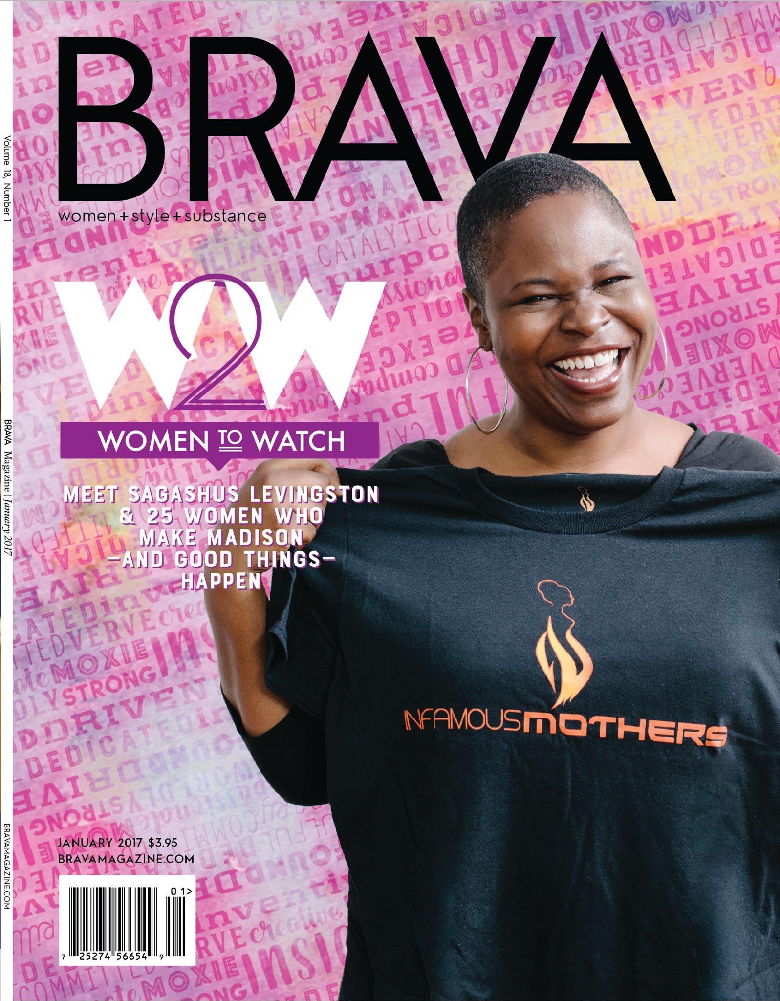 BRAVA Magazine (Cover Girl, January 2017)