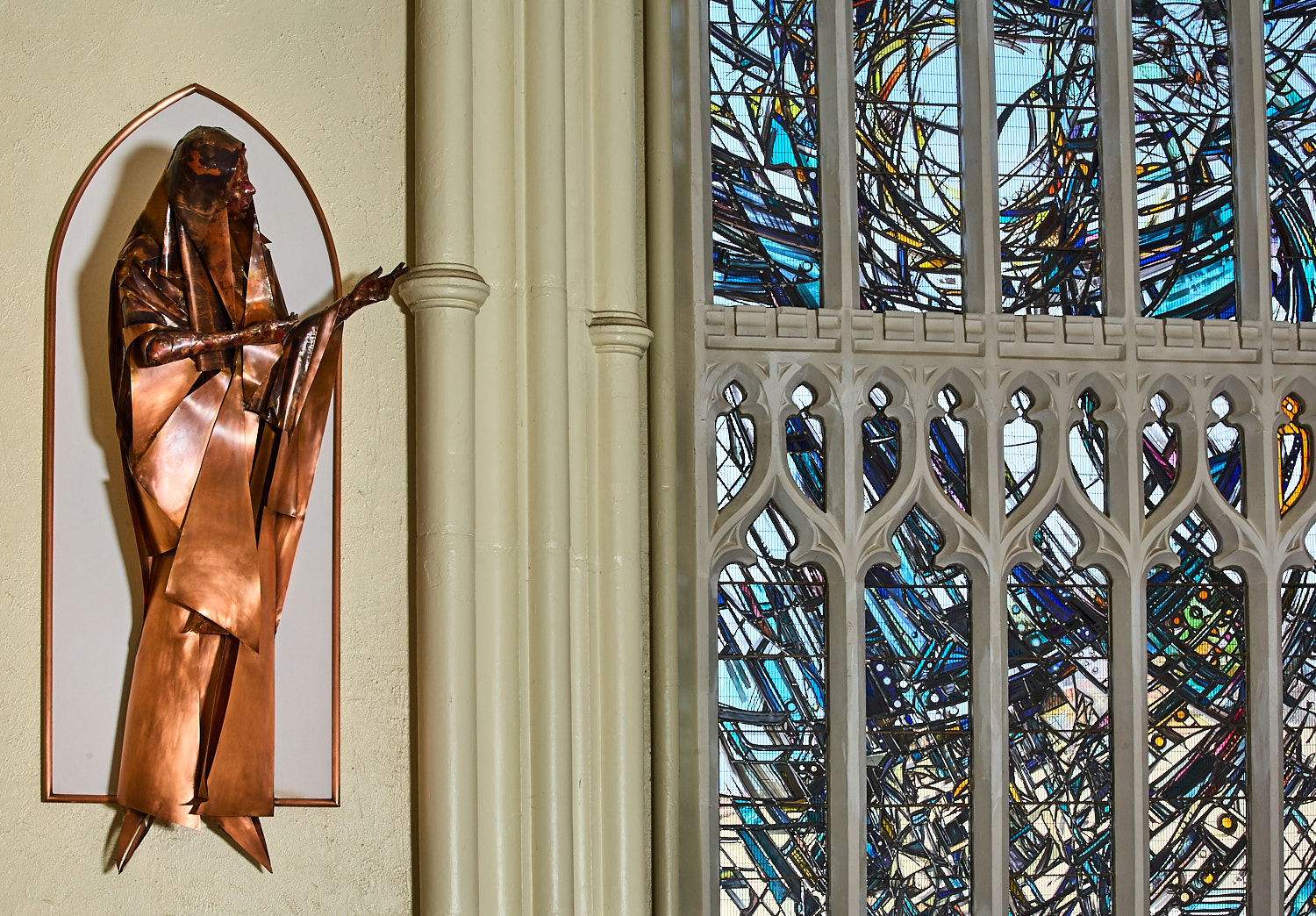 Pilgrimage – East Window and Two Sculptures