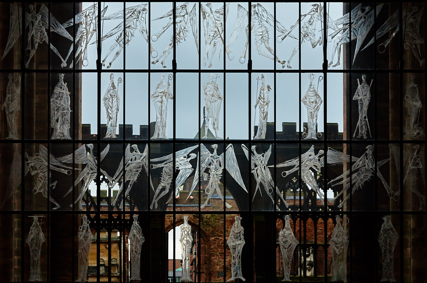 Great West Screen of Saints and Angels, artist John Hutton
