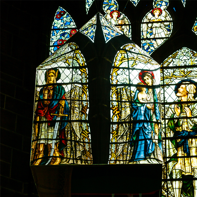 Reflections from the Chapter House windows