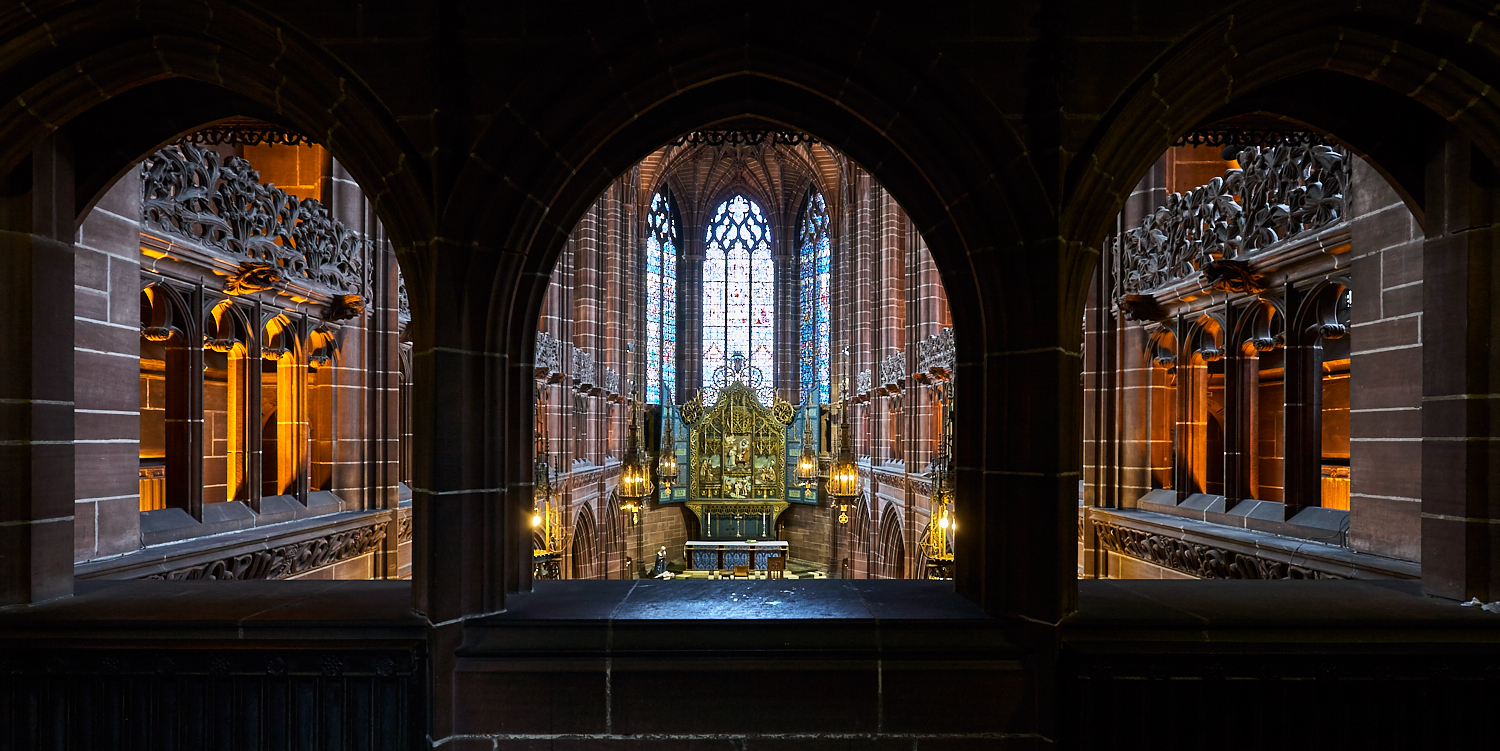 Lady Chapel from the West Gallery, Liverpool Cathedral