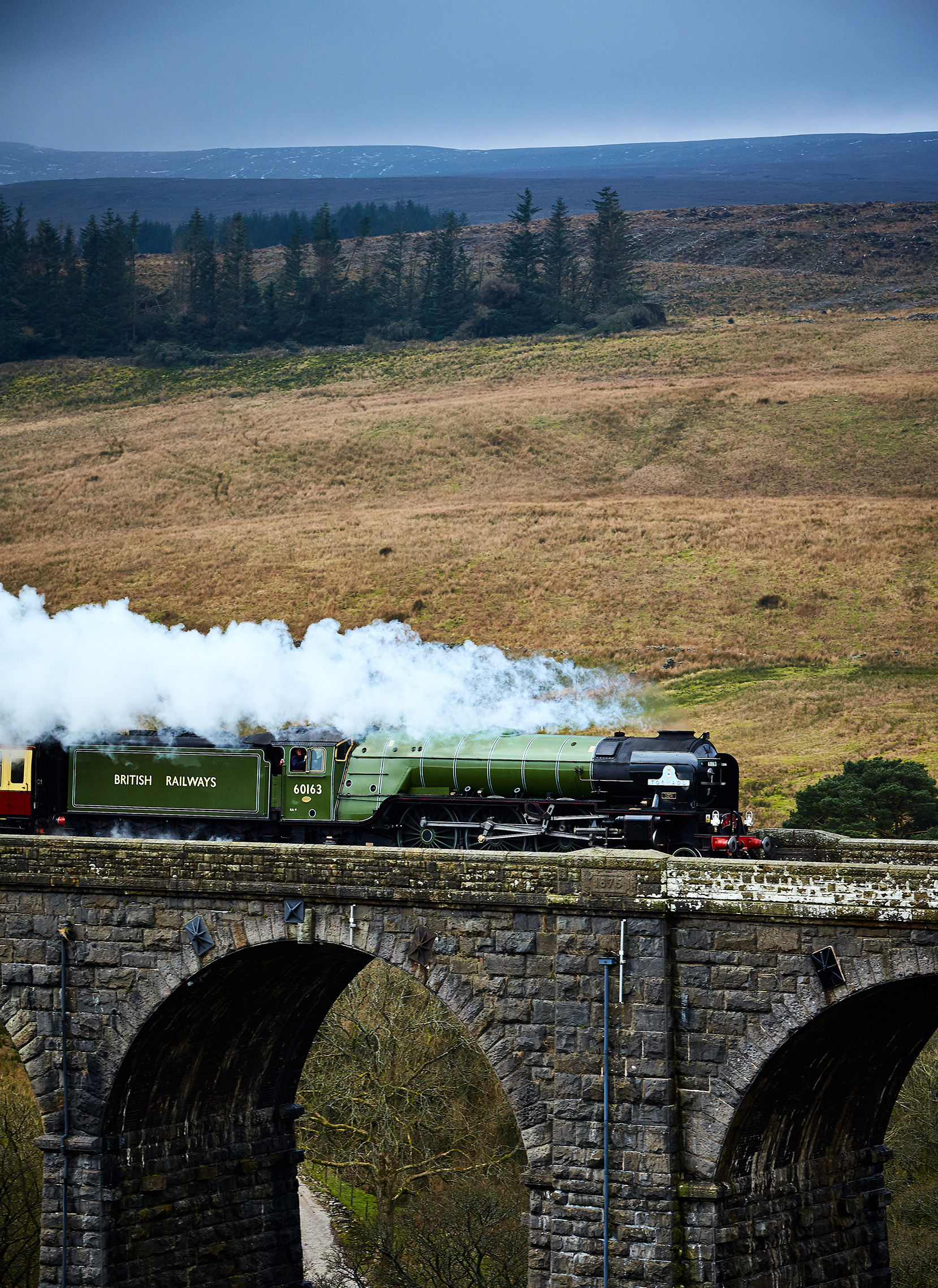 Peppercorn class A1 Pacific steam locomotive 'Tornado'  on the Settle to Carlisle Railway