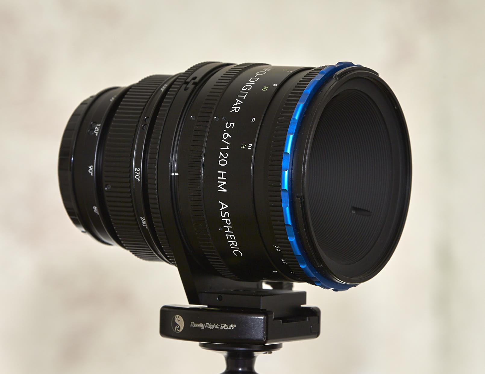 Built in lens hood