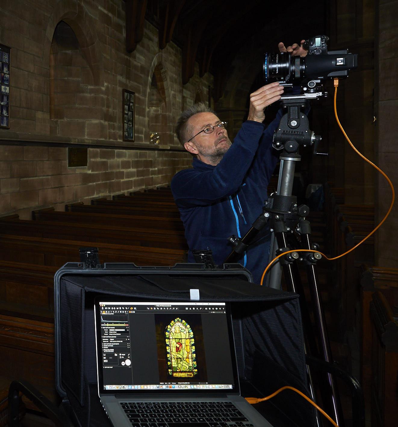 Working with my Schneider Kreuznach tilt/shift lens