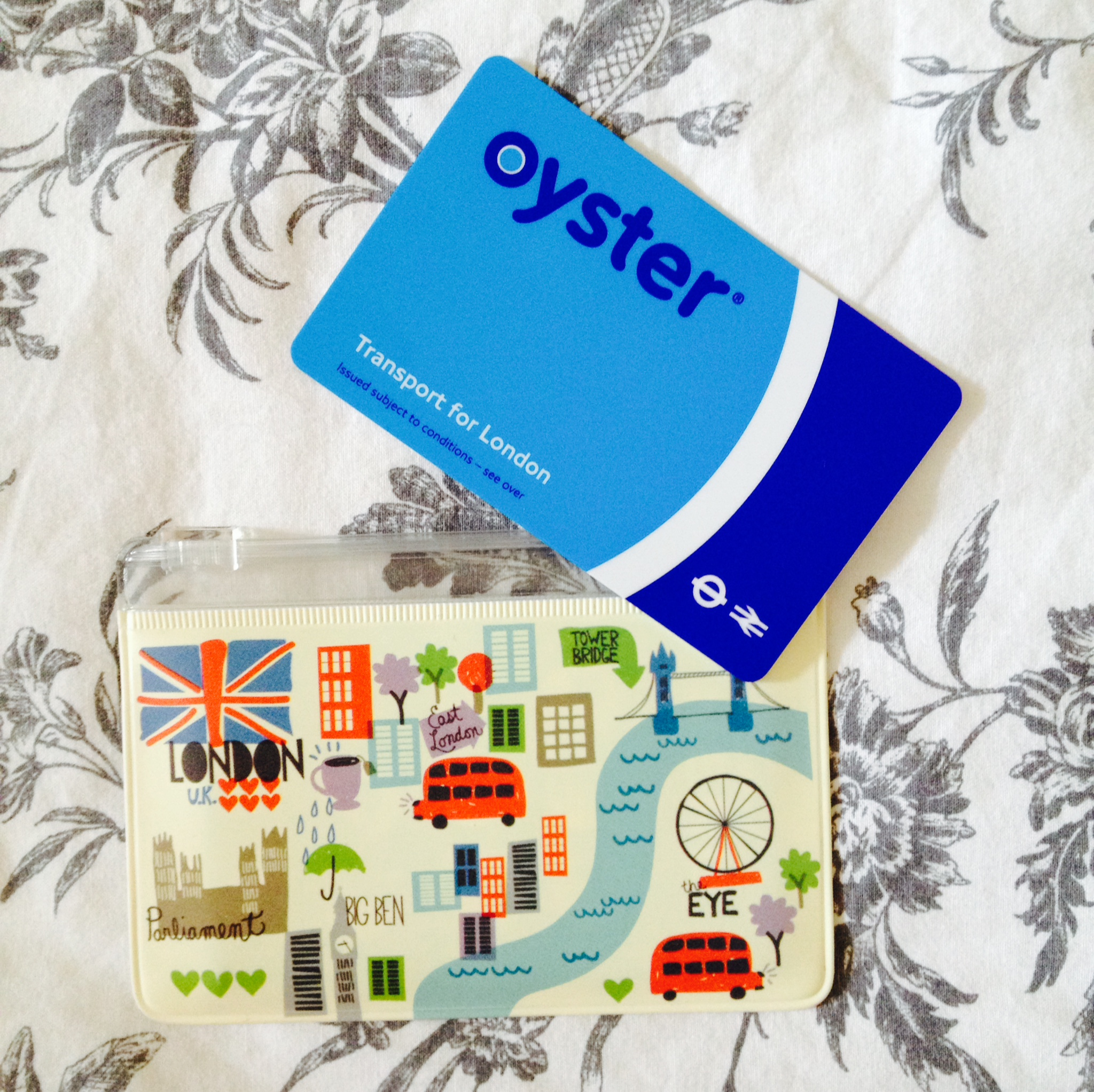 My Oyster card with matching Paperchase pouch