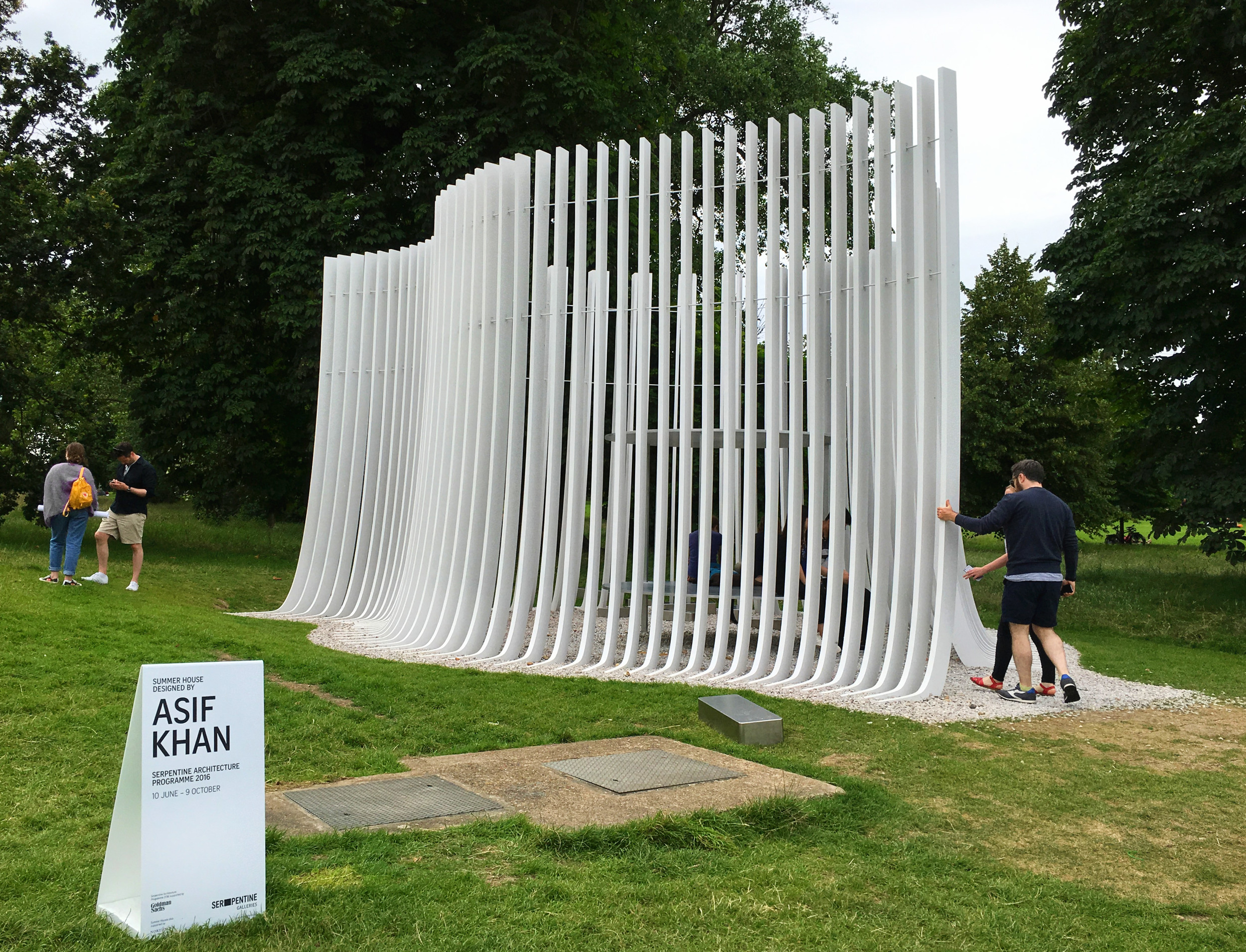 Serpentine Summer House 2016 by Asif Khan  (own photo)