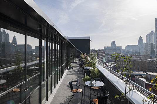 Ace Hotel London - rooftop