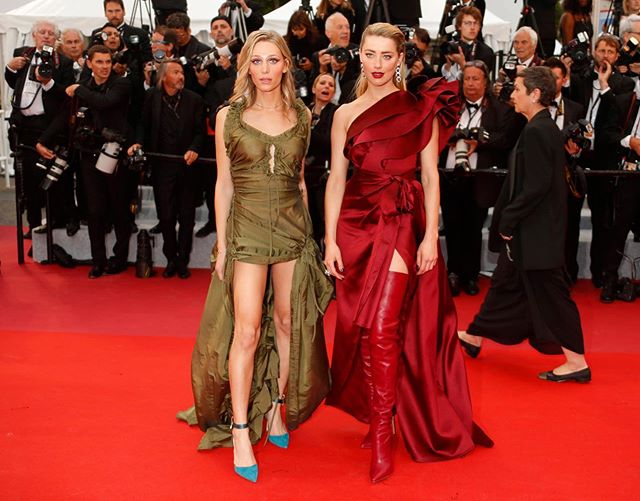 Throwing it back to @amberheard and I walking (and posing on) the red carpet at the 72nd annual Cannes Film Festival in May - I miss and deeply cherish this moment and want to relive it ✨❤️⭐️❤️✨ @loreal @lorealmakeup @festivaldecannes • #lorealmakeup #transmodel #transisbeautiful #transandproud #lgbtq #transwoman #mtf #transgirl #amberheard #redcarpet