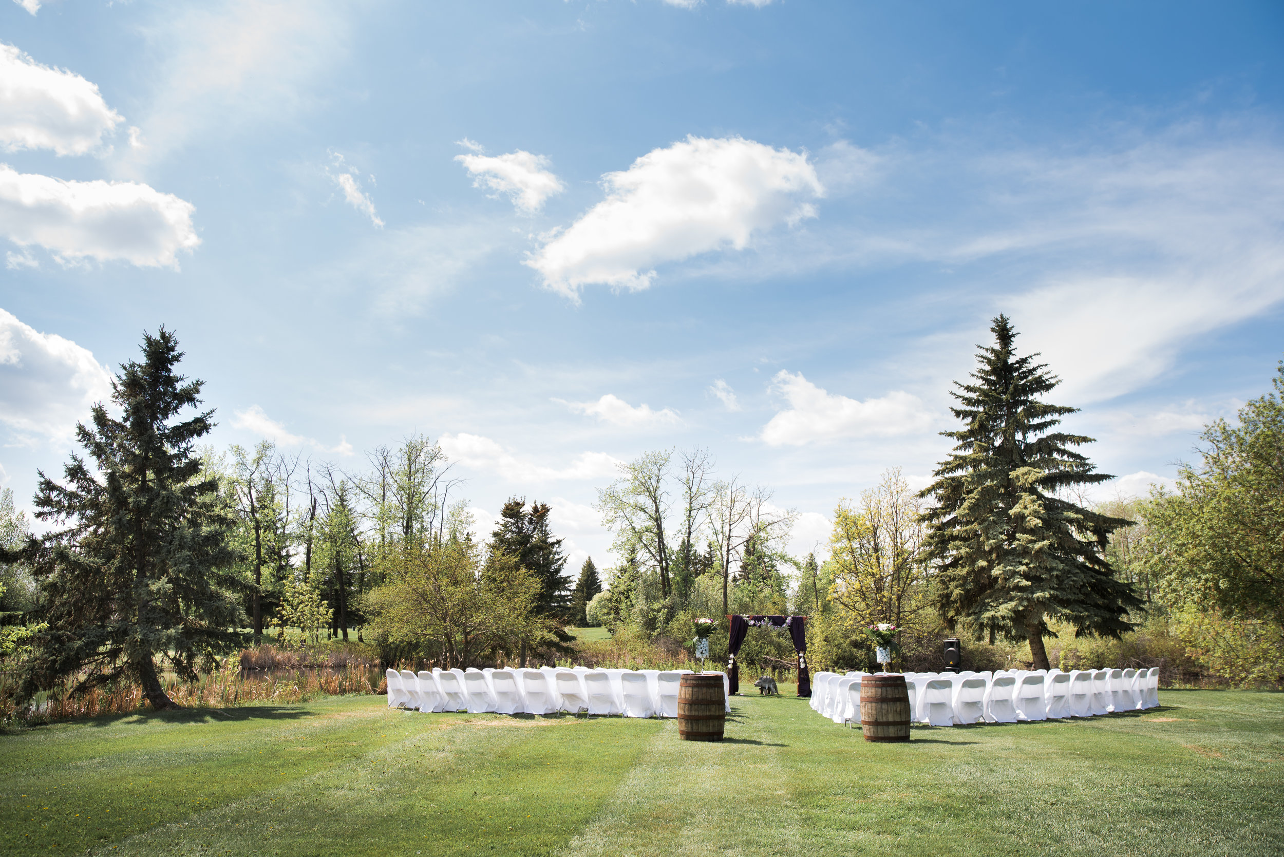 This particular ceremony was set up for 110 guests