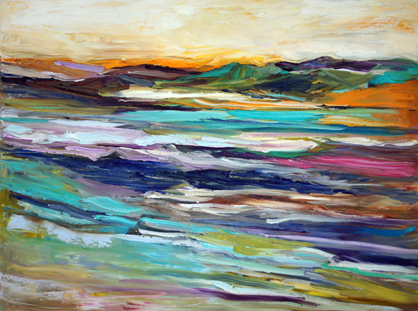 Blurred Lines, 30x40, Oil, Sold