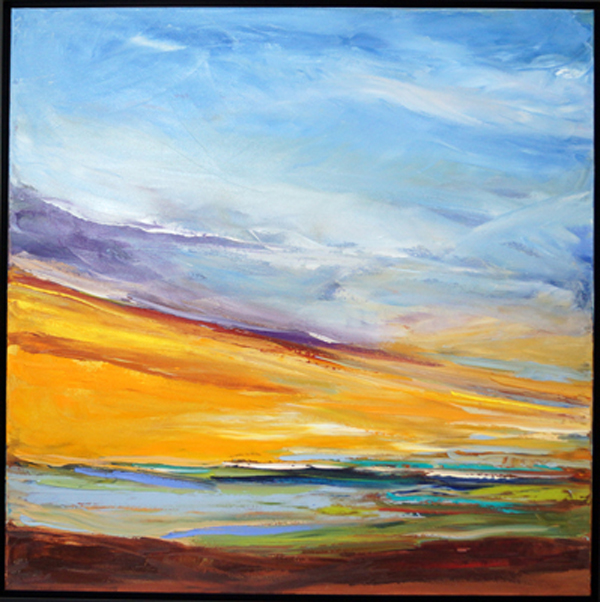 Rays of Gold I, 30x30, Oil, Sold
