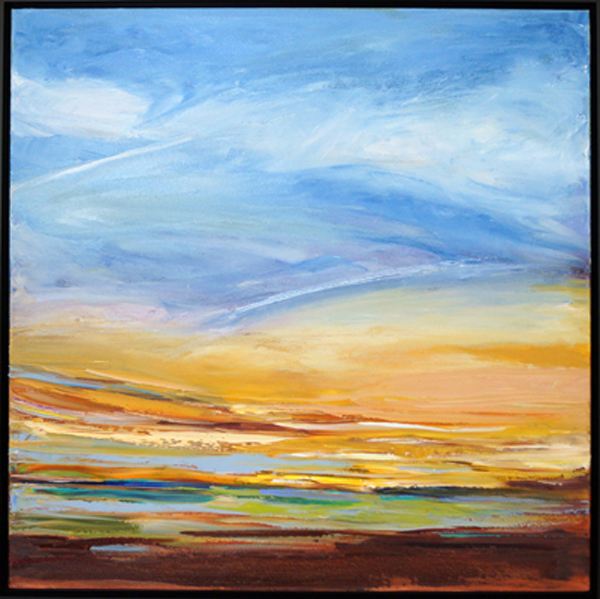 Rays of Gold II, 30x30, Oil, Sold