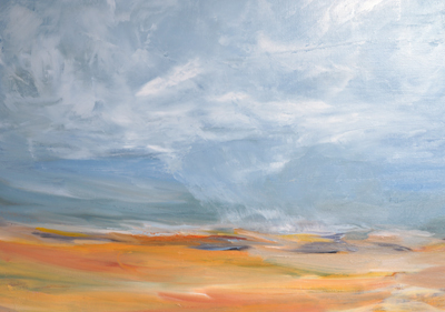 Ocean of Aqua, 24x30, Oil, Sold