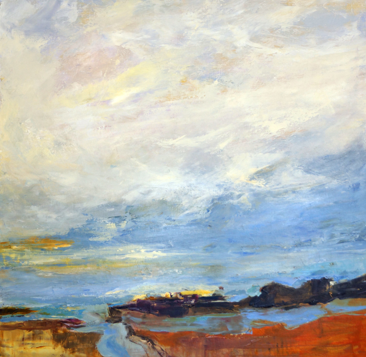 The View II, 36x36, Oil, Sold