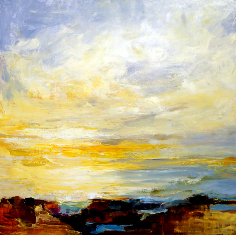 The View I, 36x36, Oil, Sold