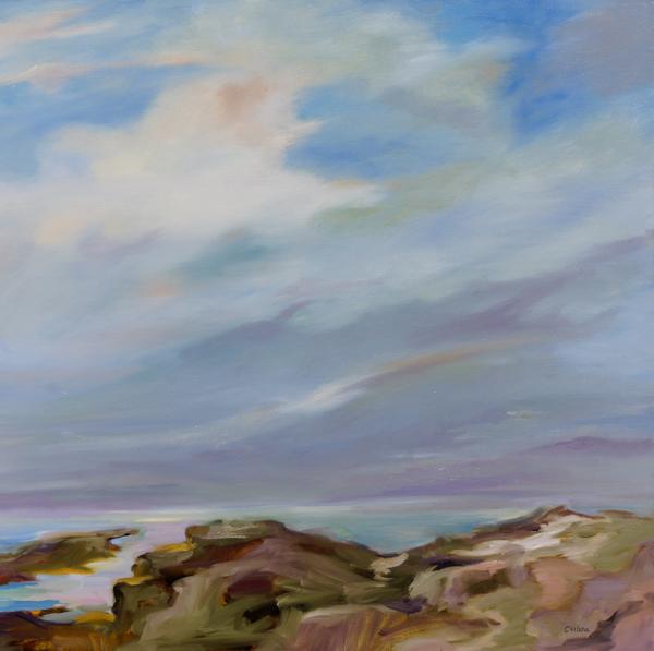 Evening Peace II, 30x30, Oil, Sold
