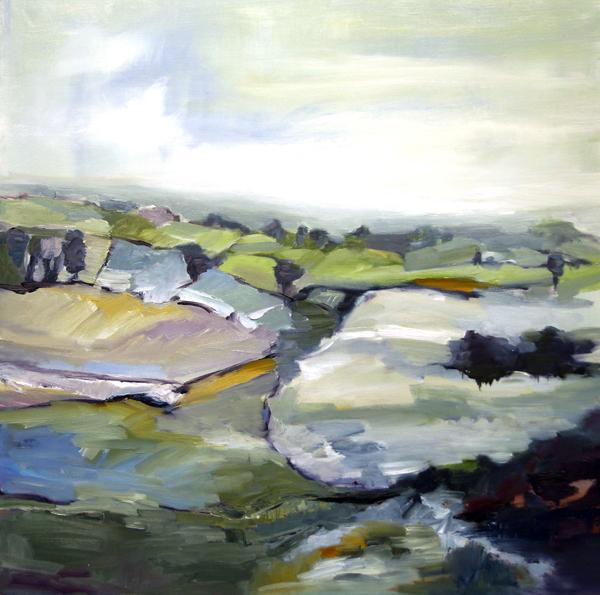 Landscape Love Song VI, 30x30, Oil, Sold
