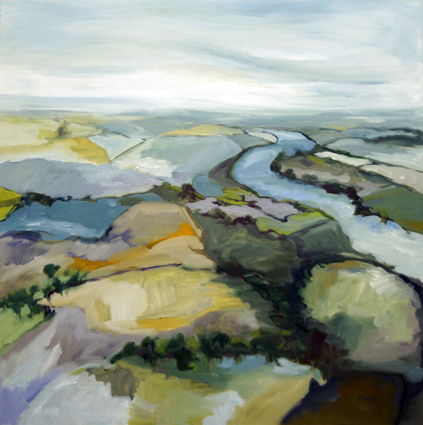 Landscape Love Song Vii, 30x30, Oil on Linen