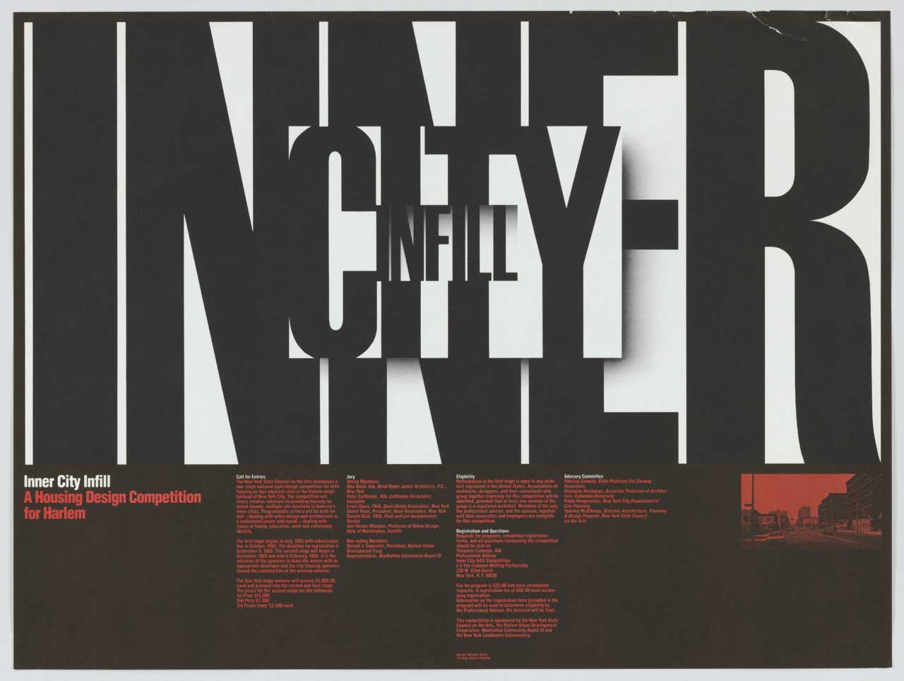 Michael Bierut , Inner City Infill, 1984 from the collection at  MOMA