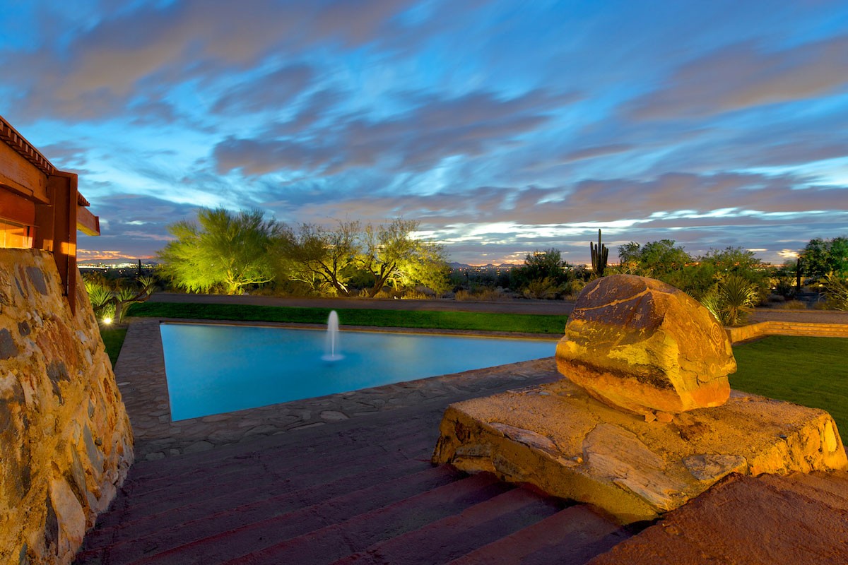 Taliesin West evening, photographed by Andrew Pielage