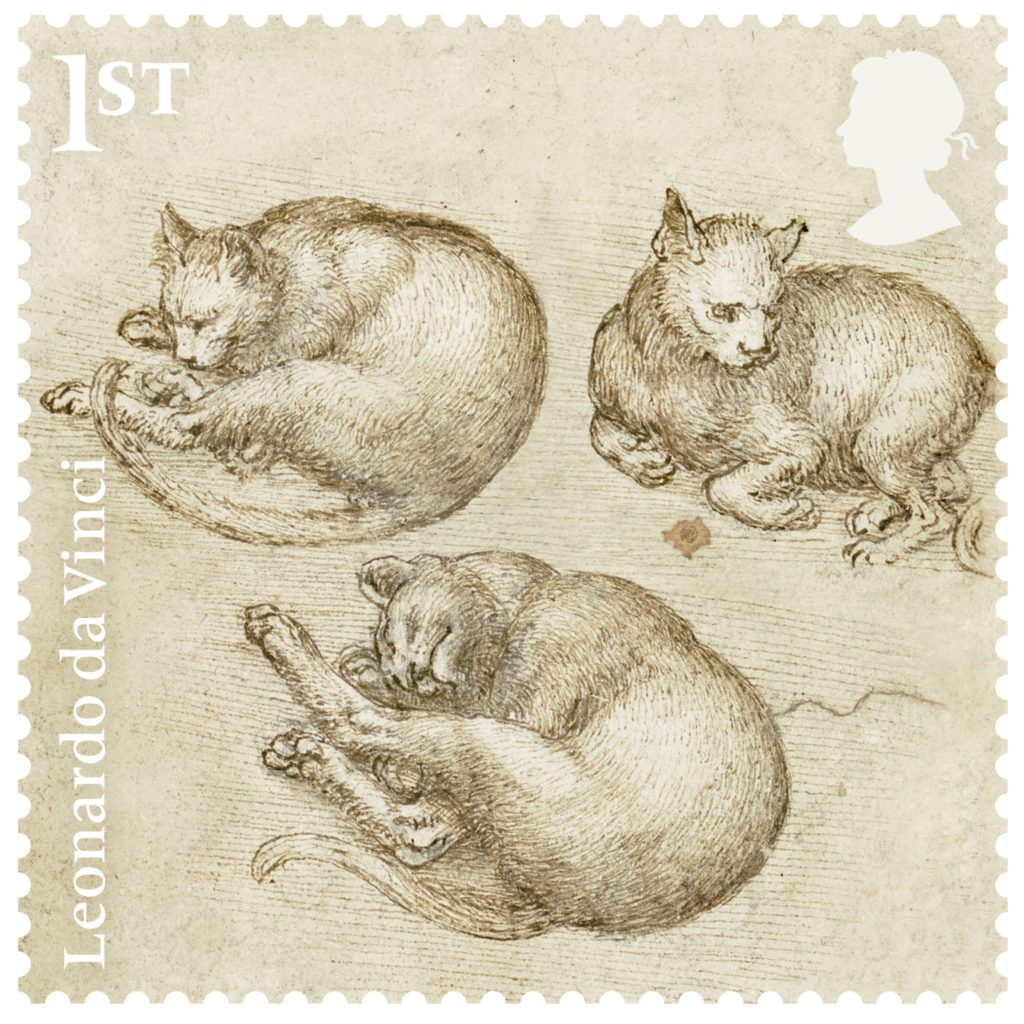 Studies of cats (c.1517–18) on view at Bristol Museum and Art Gallery
