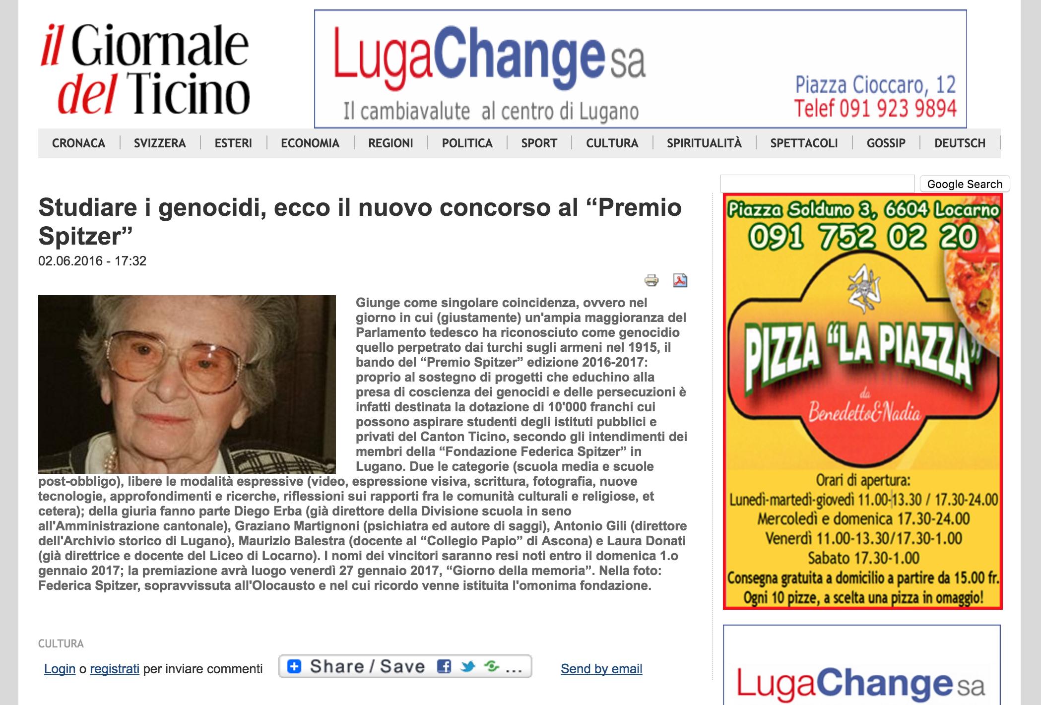 02.06.16 - Giornale del Ticino