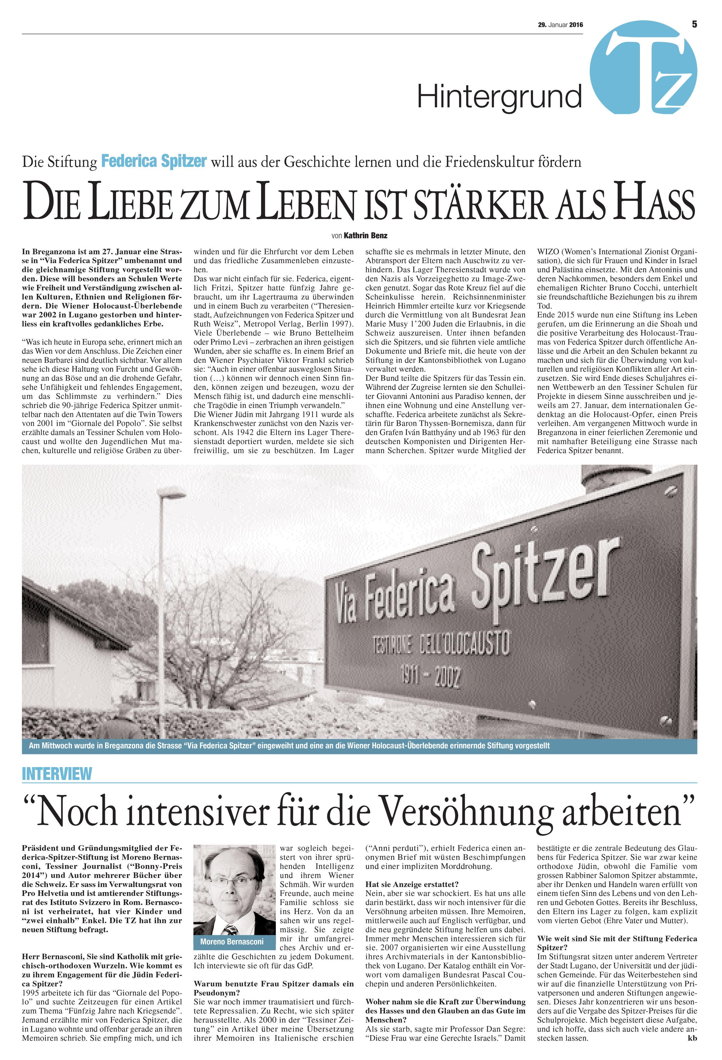 29.01.16 - Tessiner Zeitung