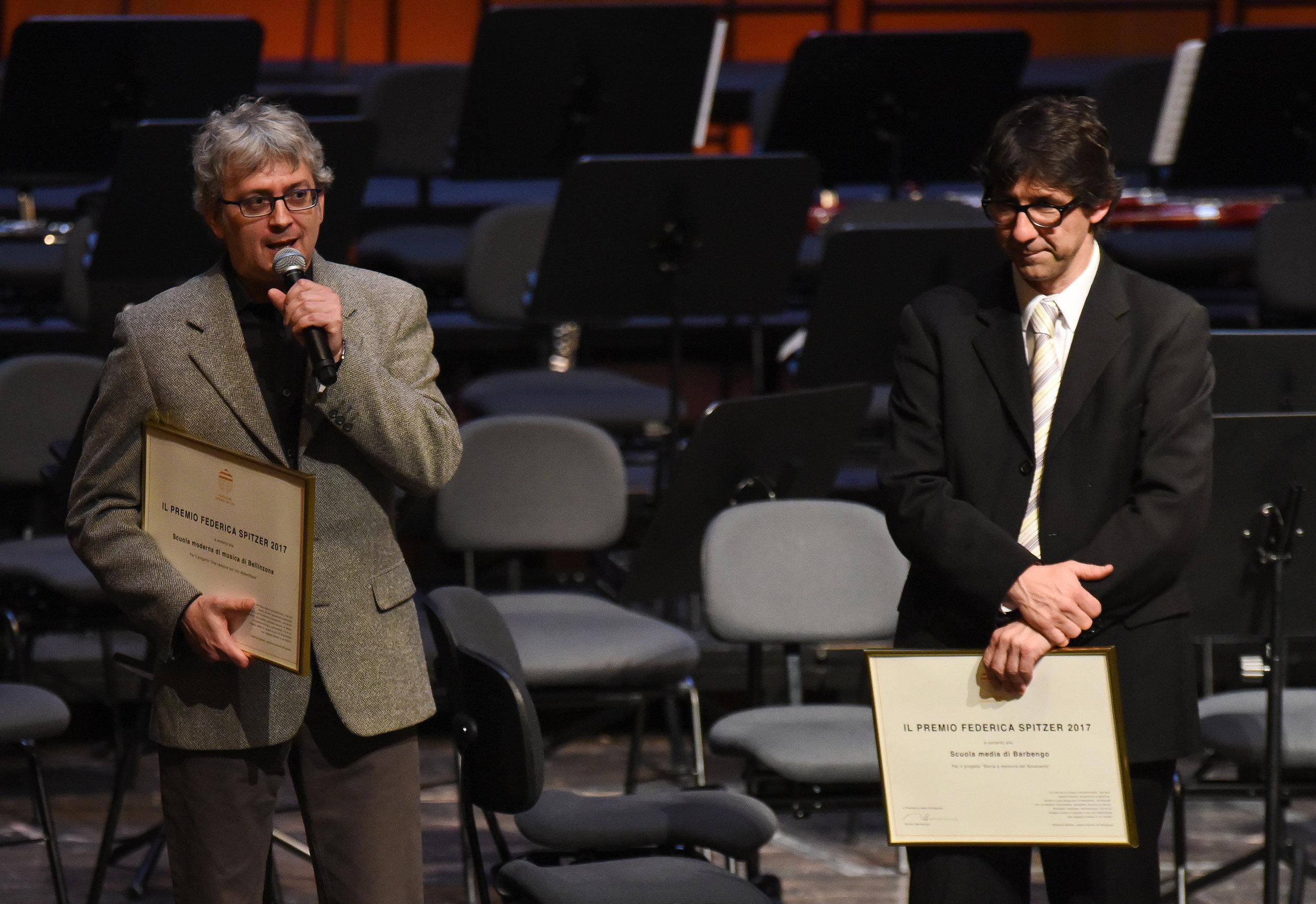 I laureati del Premio Spitzer 2017